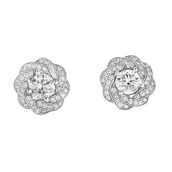 White Gold Pave Earring