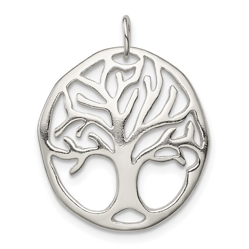 Quality Gold Sterling Silver Tree Of Life Charm