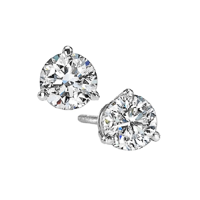 Gems One Martini Diamond Stud Earrings in 14K White Gold (5/8 ct. tw.) SI3 - G/H