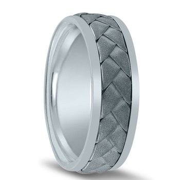 Hand Braided Men's Wedding Band N03065