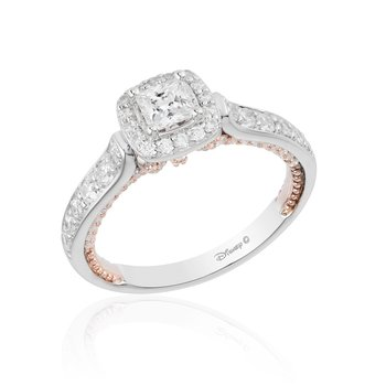 14KWP 1.00CTW Snow White Bridal Ring