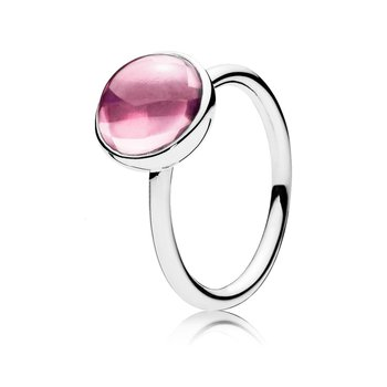 Poetic Droplet Ring, Pink CZ