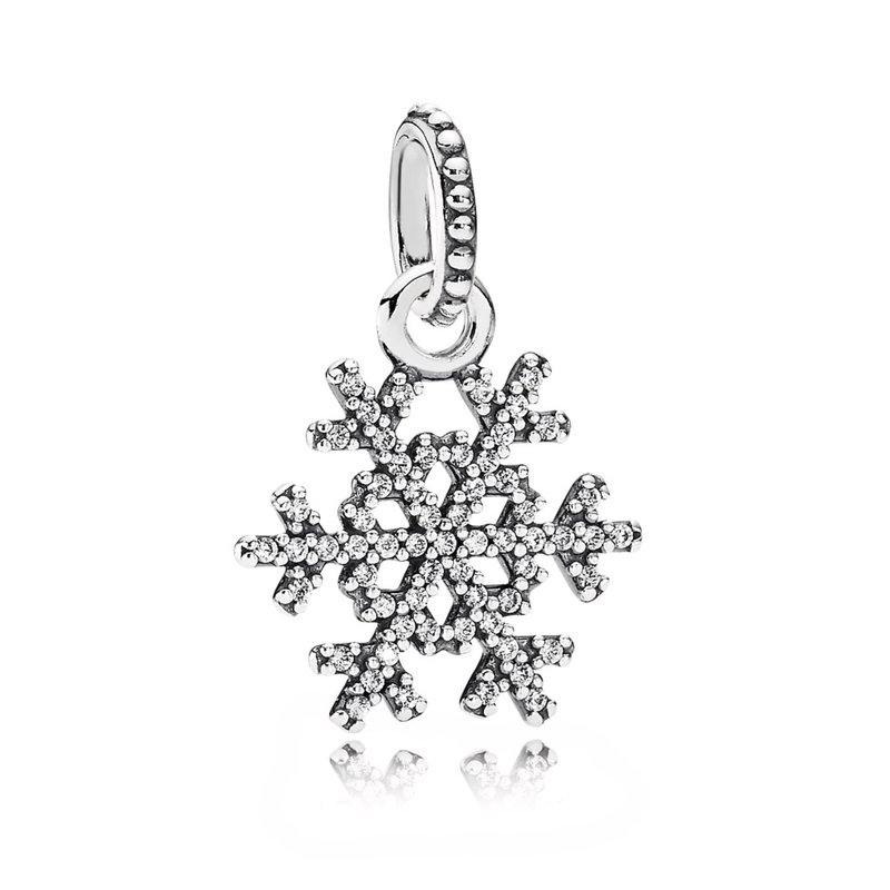 PANDORA Winter Kiss Snowflake Pendant, Clear CZ