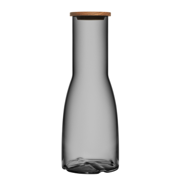 Carafe with Oak Lid (smoke grey)