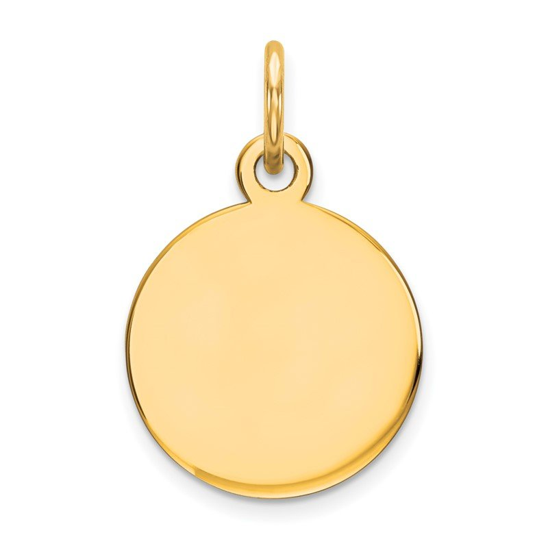 Quality Gold 14K Round Disc Charm