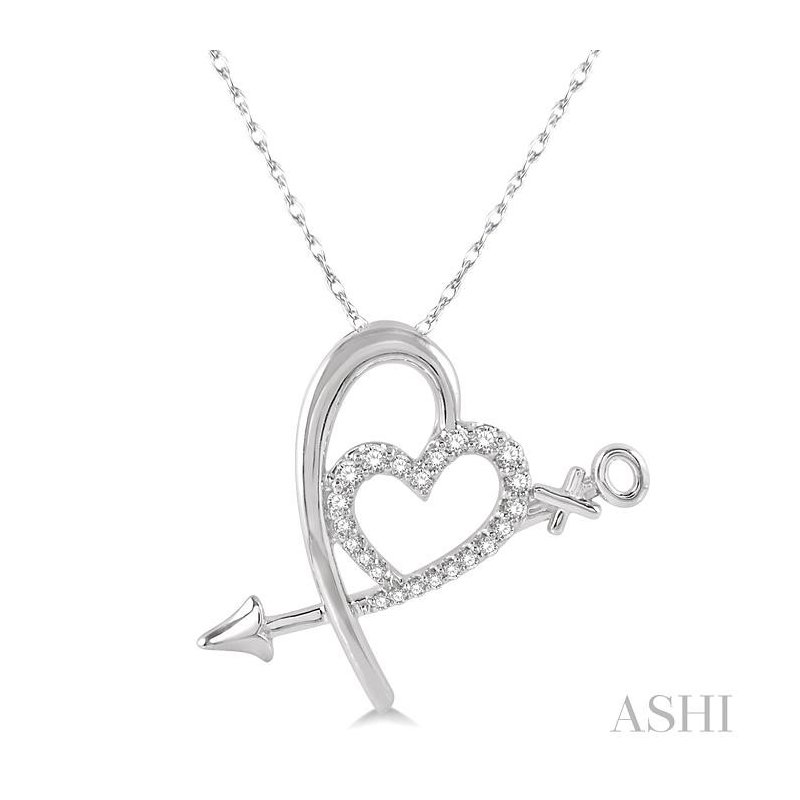 ASHI diamond heart shape pendant
