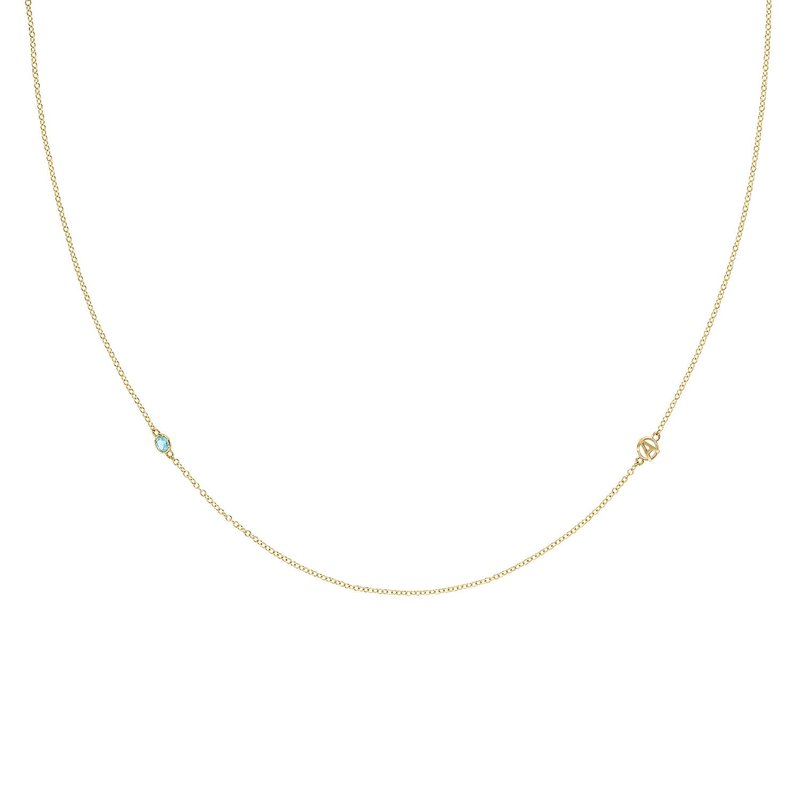 Tacori Fashion The Gemstone & Monogram Necklace w/ Swiss Blue Topaz