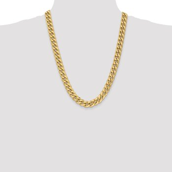 10k 11mm Semi-Solid Miami Cuban Chain