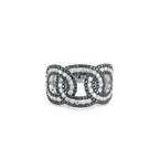 Roberto Coin Cable Link Ring With Diamonds &Ndash; 6.5