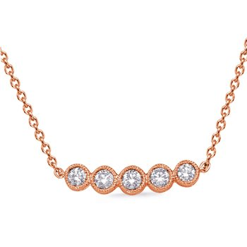 Rose Gold Diamond Necklance