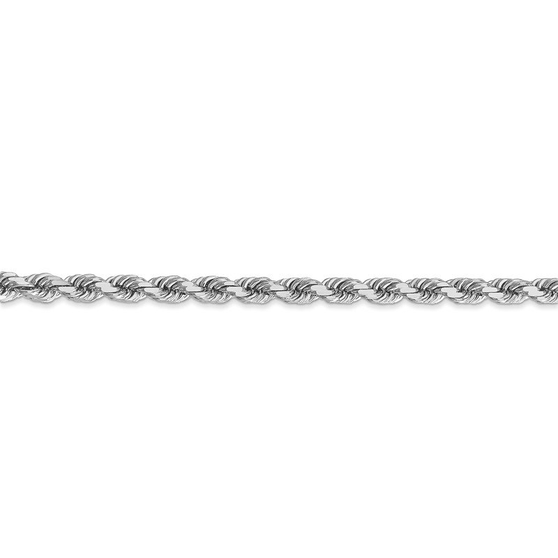 J.F. Kruse Signature Collection 14k White Gold 4mm D/C Rope with Lobster Clasp Chain