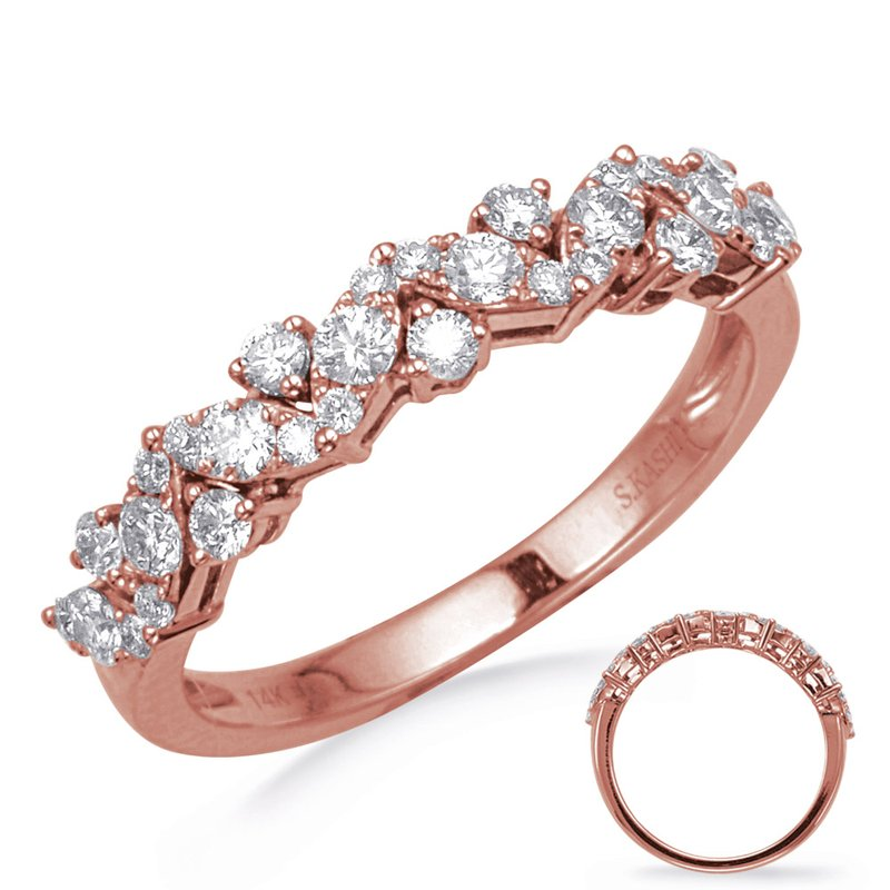 S. Kashi & Sons Bridal Rose Gold Diamond Fashion Ring
