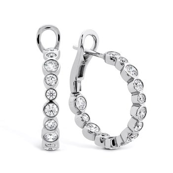 2.4 ctw. HOF Large Bezel Diamond Hoops