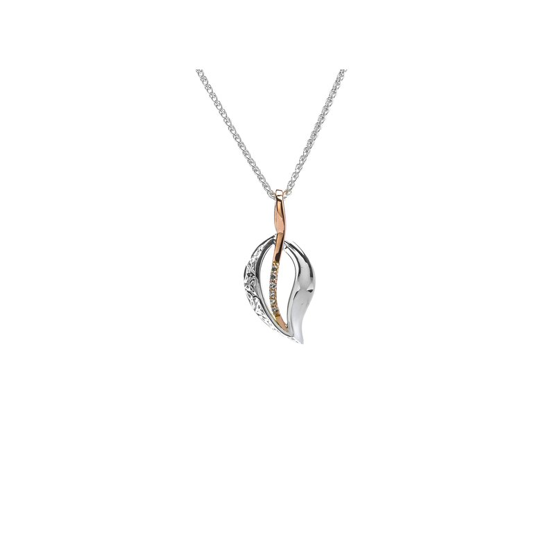 Keith Jack Trinity Leaf Pendant Small