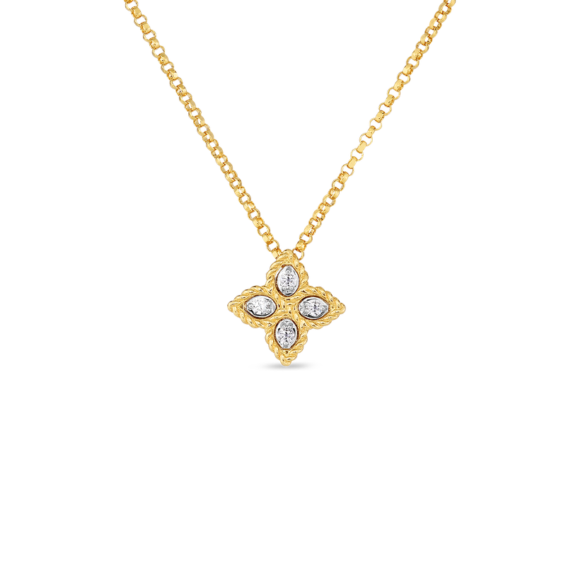 Roberto Coin 18KT GOLD SMALL PENDANT WITH DIAMONDS