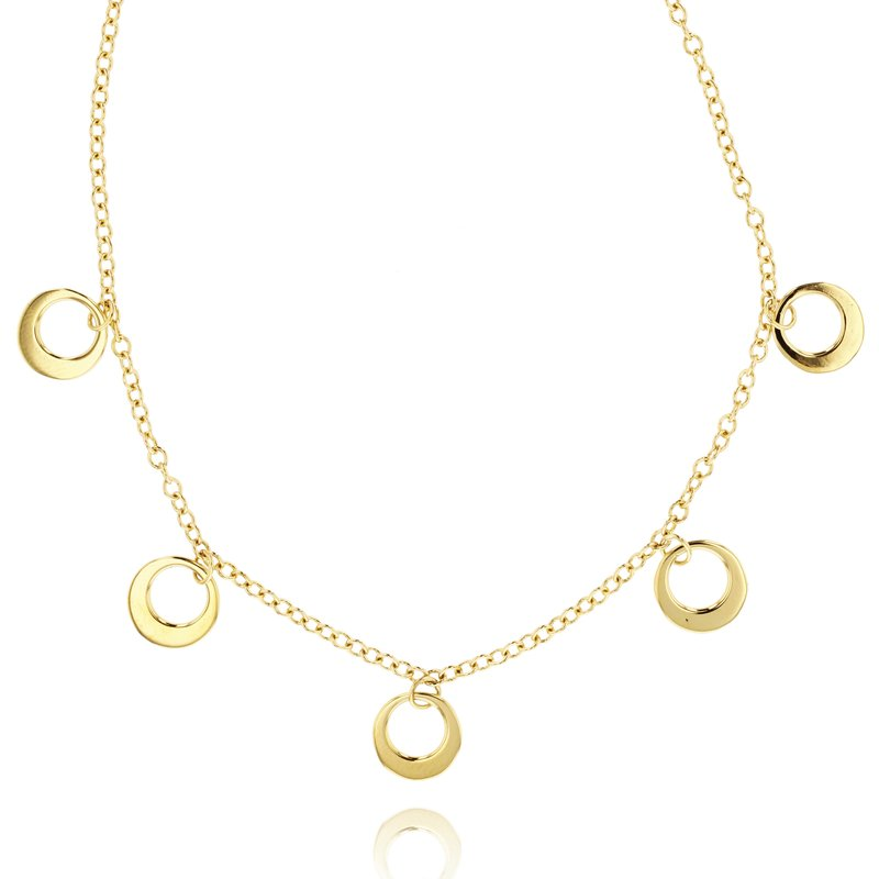 Phillips House Yellow gold Affair station crescent necklace