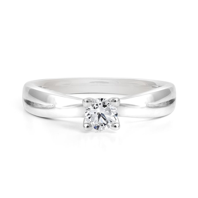 Canadian Rocks Diamond Solitaire Engagement Ring with Band Details