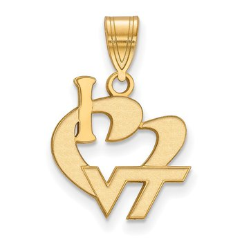 Gold-Plated Sterling Silver Virginia Tech NCAA Pendant