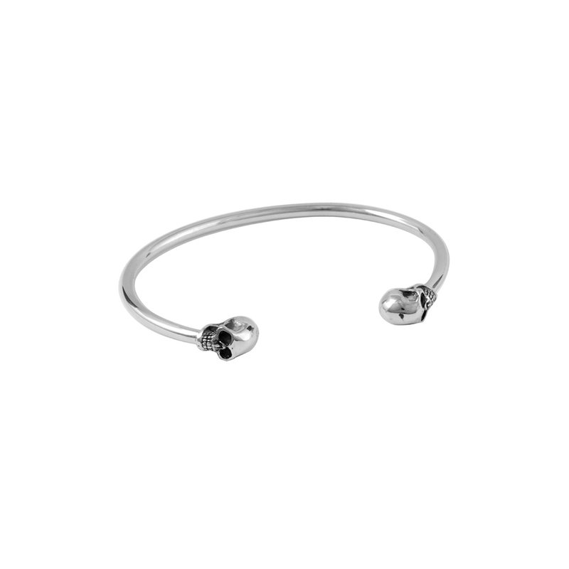 King Baby Thin Wire Cuff W/ Skulls