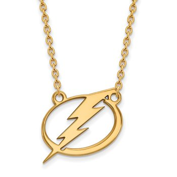 Gold-Plated Sterling Silver Tampa Bay Lightning NHL Necklace