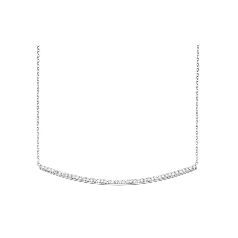 MAZZARESE Fashion Diamond Bar Chain in 14K White Gold with 44 diamonds weighing .50ct tw