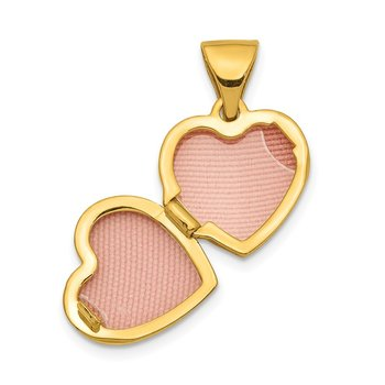 14K 11mm Floral Heart Locket Pendant