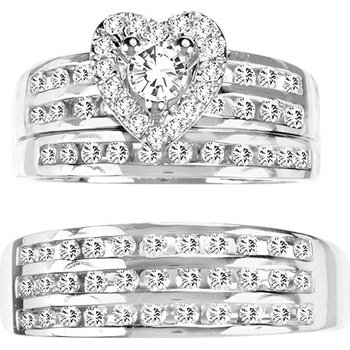 14K 1.44Ct Diamond Trio Set