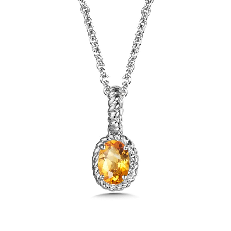 SDC Creations Citrine Pendant in Sterling Silver