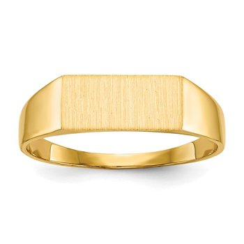 14k 5.5 x12.0mm Closed Back Signet Ring
