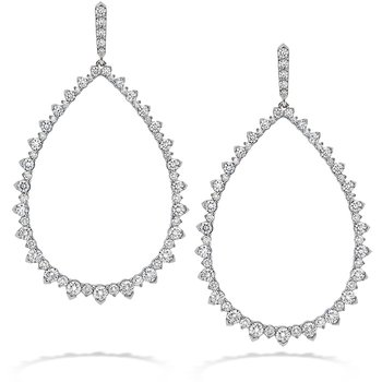 9.55 ctw. Aerial Pointed Teardrop Earrings