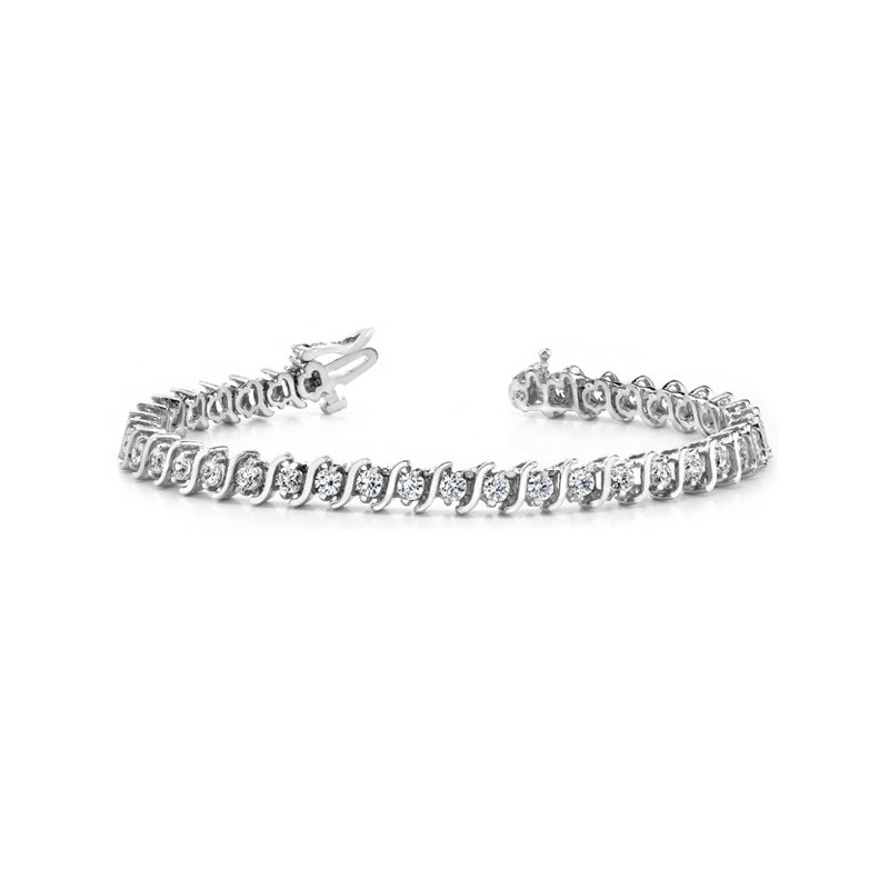 Briana  White Gold Diamond Tennis Bracelet