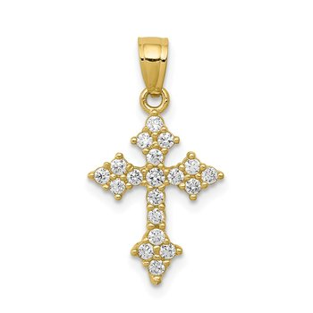 10k CZ Passion Cross Pendant
