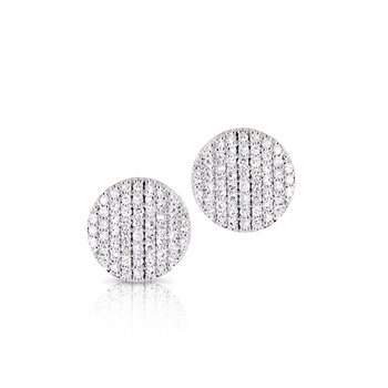 Yellow gold diamond mini Infinity stud earrings