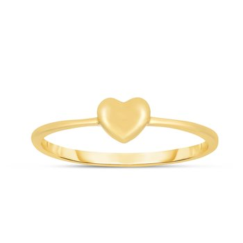 14K Gold Mini Heart Ring