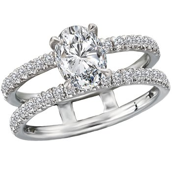 Split Shank Semi Mount Diamond Ring