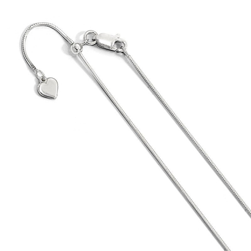 Leslie's Leslie's Sterling Silver 1 mm Square Adjustable Snake Chain