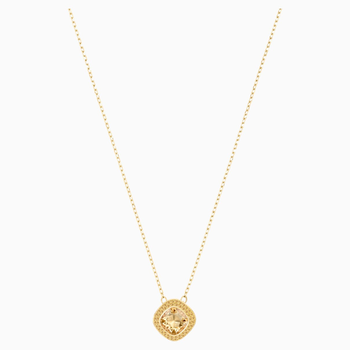 Lattitude Pendant, Golden, Gold-tone plated