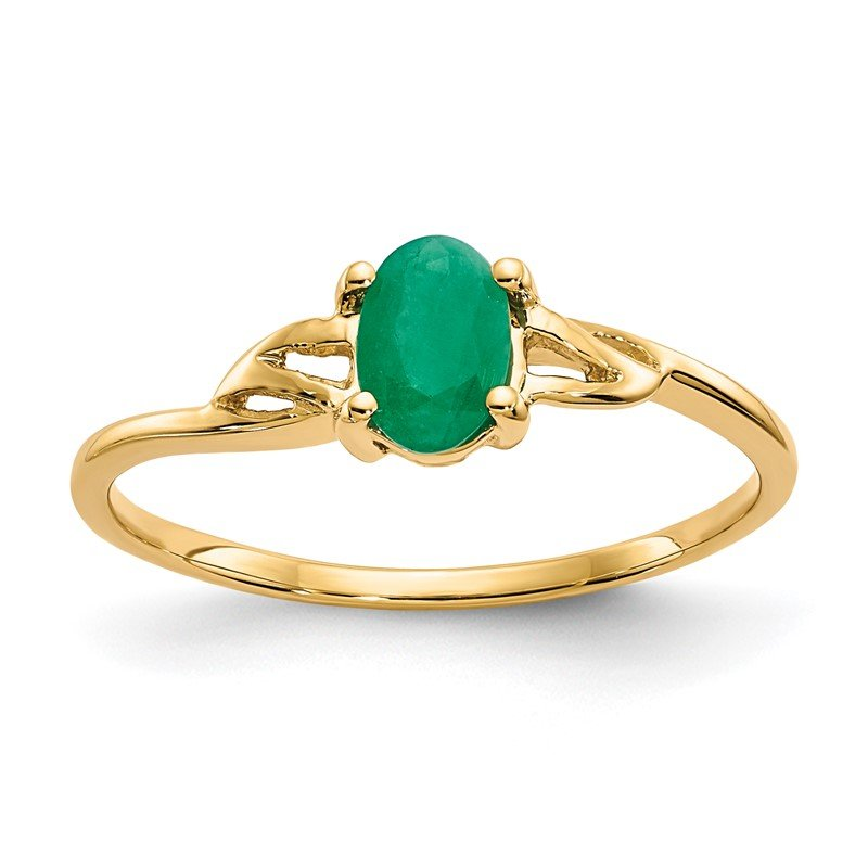 Quality Gold 14k Emerald Birthstone Ring