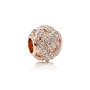 Sparkling Love Knot Charm, Pandora Rose™ Clear Cz
