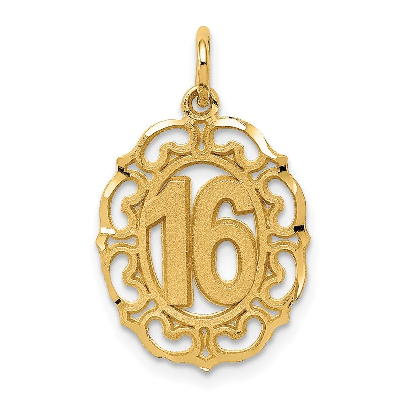 Quality Gold 14k #16 in Oval Circle Pendant