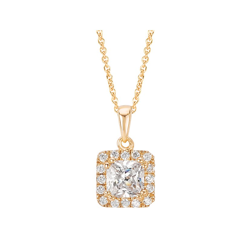 Tesoro Diamond Halo Pendant