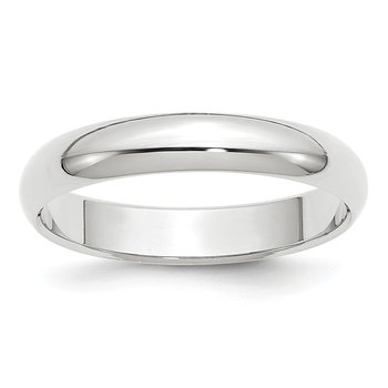 14k White Gold 4mm Half-Round Band