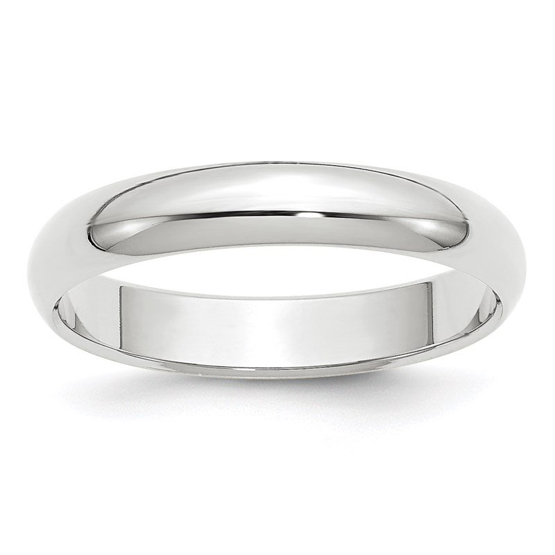Quality Gold 14k White Gold 4mm Half-Round Band