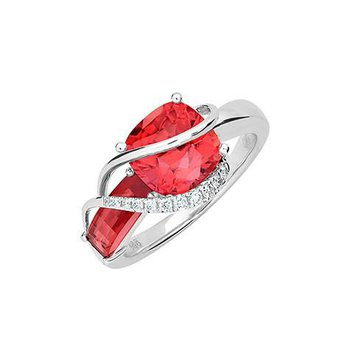 Padparadscha Ring-CR11884WPD