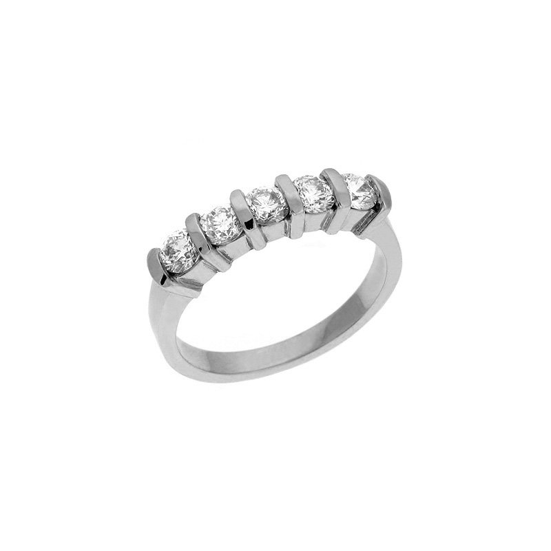 S. Kashi & Sons Bridal Diamond Band Five Stone Bar