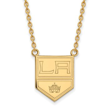 Gold-Plated Sterling Silver Los Angeles Kings NHL Necklace