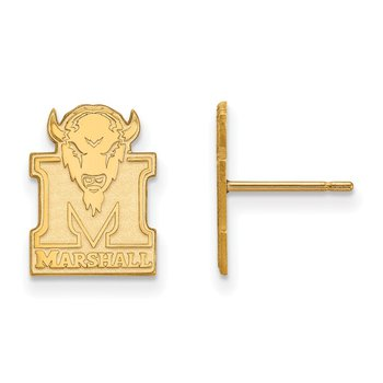 Gold Marshall University NCAA Earrings
