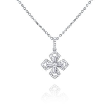 14k Gold and Diamond Maltese Cross