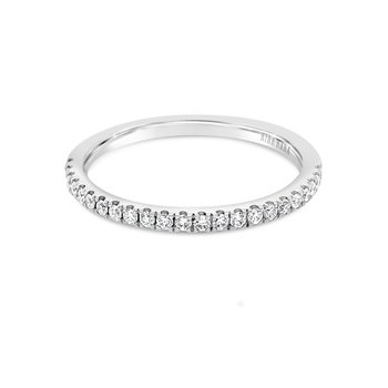 Kirk Kara 18K White Gold Diamond Thin Band