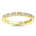 Valina Stackable Wedding Band in 14K Yellow Gold (.19 ct. tw.)